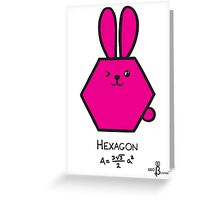 Hexagon GeoBunny Greeting Card
