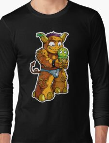 Look Out! Ice Cream Monster Long Sleeve T-Shirt