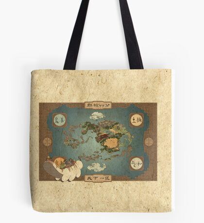 Avatar the Last Airbender - World Map Tote Bag