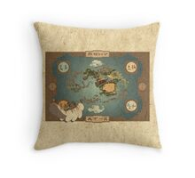 Avatar the Last Airbender - World Map Throw Pillow
