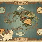 Avatar the Last Airbender - World Map by rejectpenguin