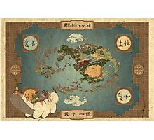 Avatar the Last Airbender - World Map Photographic Print