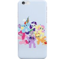 My Little Pony FiM - The Mane Six iPhone Case/Skin