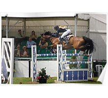 Show Jumper. Flying. Poster