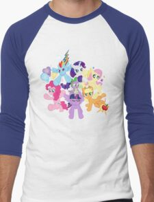My Little Pony FiM - The Mane Six Men's Baseball ¾ T-Shirt