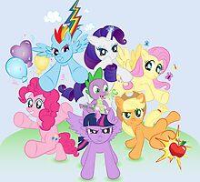 My Little Pony FiM - The Mane Six by heidiruff