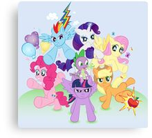 My Little Pony FiM - The Mane Six Canvas Print