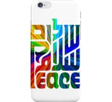 Language of Peace - Hebrew, Arabic, and English. iPhone Case/Skin