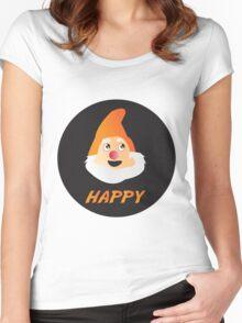 HAPPY DWARF Women's Fitted Scoop T-Shirt