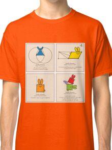 Euclid's Elements Book 1 GeoBunnies 4-Panels Classic T-Shirt
