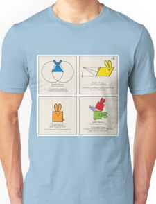 Euclid's Elements Book 1 GeoBunnies 4-Panels Unisex T-Shirt