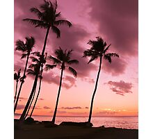 Maui Silhouette Sunset Photographic Print