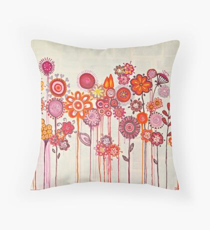 Springtime Posy Throw Pillow