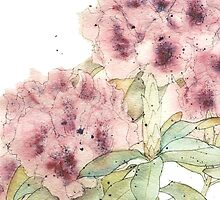 Graceful Blooms - Watercolor by ArtByDrax