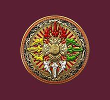 Tibetan Double Dorje Mandala - Double Vajra  Womens Fitted T-Shirt