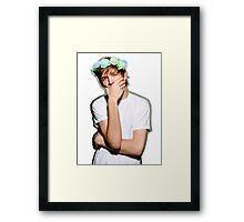 Bo Burnham Flower crown Framed Print