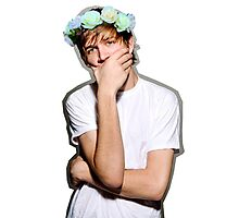 Bo Burnham Flower crown Photographic Print