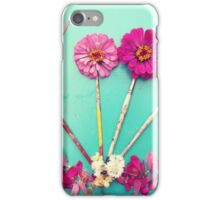Flower paint Brushes iPhone Case/Skin