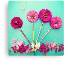 Flower paint Brushes Canvas Print