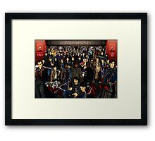 The Ones Who Bump Back Framed Print
