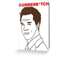 Cumberb*tch Greeting Card