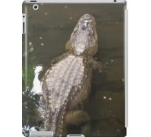 Gator swimming away iPad Case/Skin