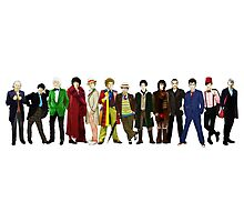 Doctor Who - 13 Doctors lineup Photographic Print