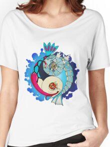 Paint-Splattered Aquatic Yin Yang - Gyarados & Milotic Women's Relaxed Fit T-Shirt