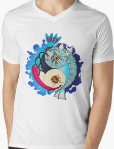 Paint-Splattered Aquatic Yin Yang - Gyarados & Milotic Mens V-Neck T-Shirt