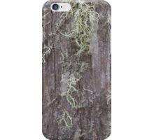 Lichen on fencepost 2 iPhone Case/Skin