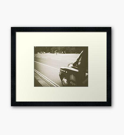 Taxi... Framed Print