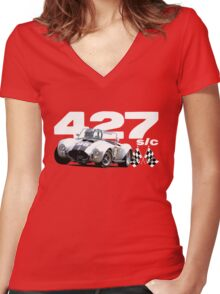 1965 Shelby AC/Cobra 427 S/C Women's Fitted V-Neck T-Shirt