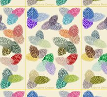 Coloured Leaf Pattern 2330 Views by aldona