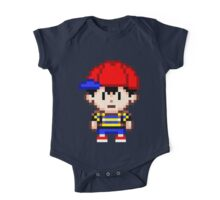 Ness - Earthbound Smash Bros Mini Pixel One Piece - Short Sleeve