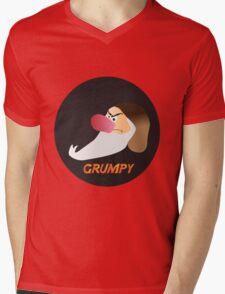 GRUMPY Mens V-Neck T-Shirt