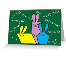 Blackboard GeoBunnies Greeting Card