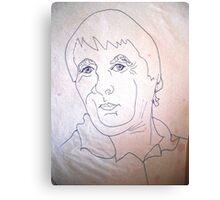 Quick Sketch Of Rick. Canvas Print