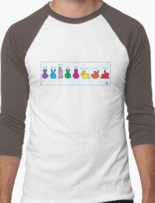 GeoBunnies Lineup Men's Baseball ¾ T-Shirt