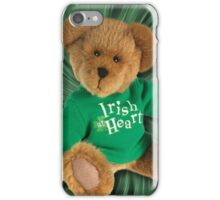 IRISH AT HEART....SAINT PATRICKS DAY TEDDY BEAR PICTURE iPhone Case/Skin