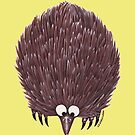Echidna Pale Yellow by Lou Van Loon