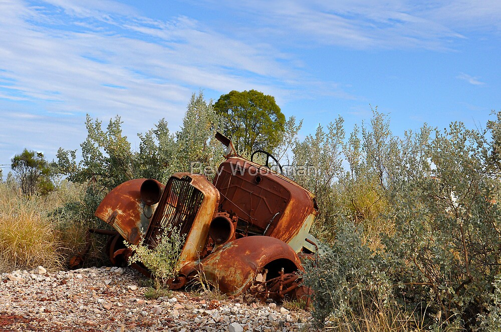 Rusting Gracefullly - Lightning Ridge NSW Australia by Bev Woodman