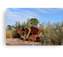 Rusting Gracefullly - Lightning Ridge NSW Australia Canvas Print