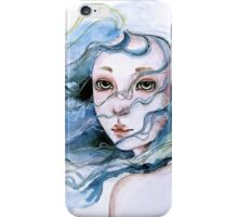 """Lily"" Surreal Watercolor Portrait iPhone Case/Skin"