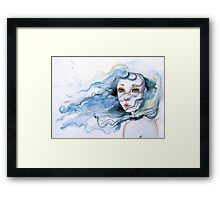 """Lily"" Surreal Watercolor Portrait Framed Print"