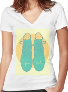 You & Me Women's Fitted V-Neck T-Shirt