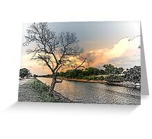 River Tree Greeting Card