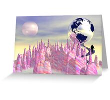 The Pink Planet Greeting Card
