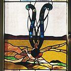 Lyrebird Stained Glass by Jeffrey Hamilton