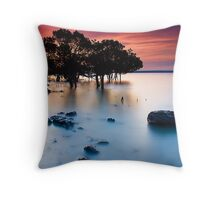 Sunset at Tenby Point Throw Pillow