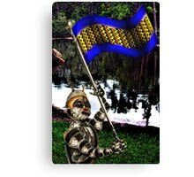 Patriot ...with Flag Canvas Print